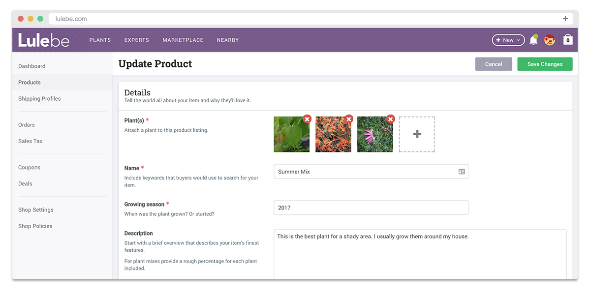 Marketplace product management