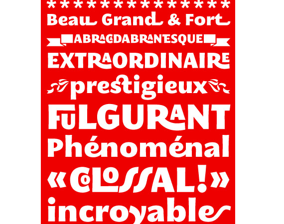 Megalopolis Extra Typeface